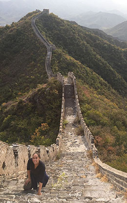 Dr. Crooms on the Great Wall of China
